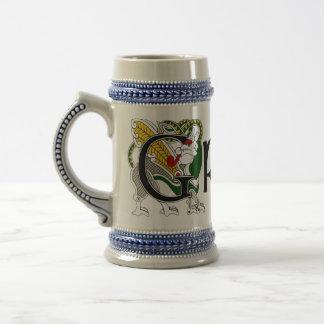 Dragón céltico Stein de Grady Tazas De Café