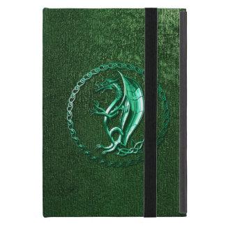 Dragón céltico verde iPad mini carcasa
