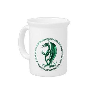 Dragón céltico verde jarron