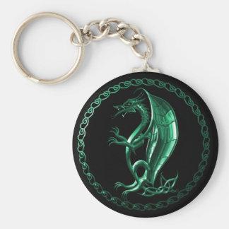Dragón céltico verde llaveros personalizados