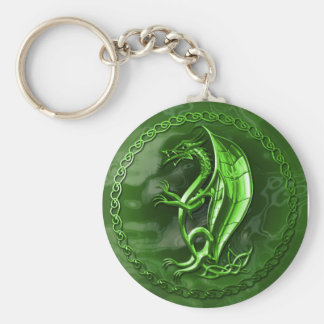 Dragón céltico verde llavero personalizado
