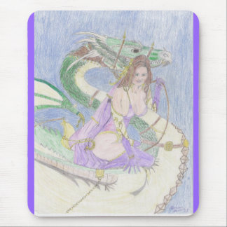 Dragon Chariot Mouse Pad
