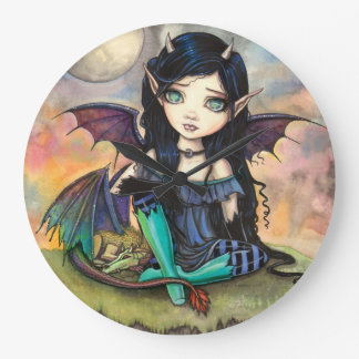 Dragon Child Cuge Big-Eye Fairy and Dragon Wall Clock