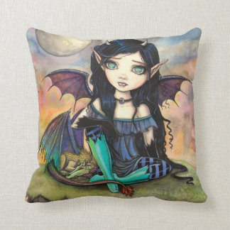 Dragon Child Cuge Big-Eye Fairy and Dragon Throw Pillow