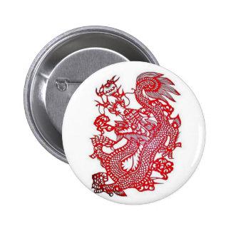 Dragon-Chinese Zodiac/ Pinback Buttons