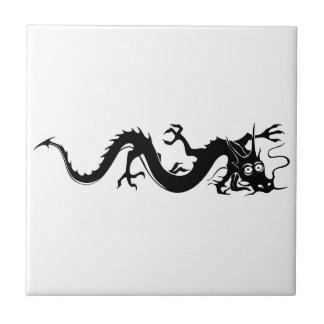 Dragón chino (10) azulejo cuadrado pequeño