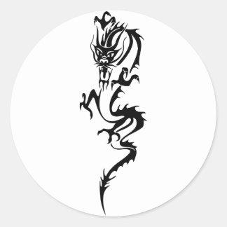 Dragón chino (1) pegatina redonda