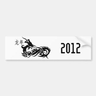Dragón chino 2012 del Año Nuevo Pegatina Para Auto