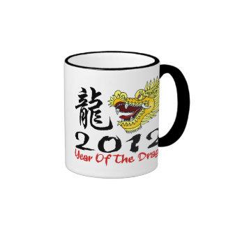 Dragón chino 2012 del Año Nuevo Tazas