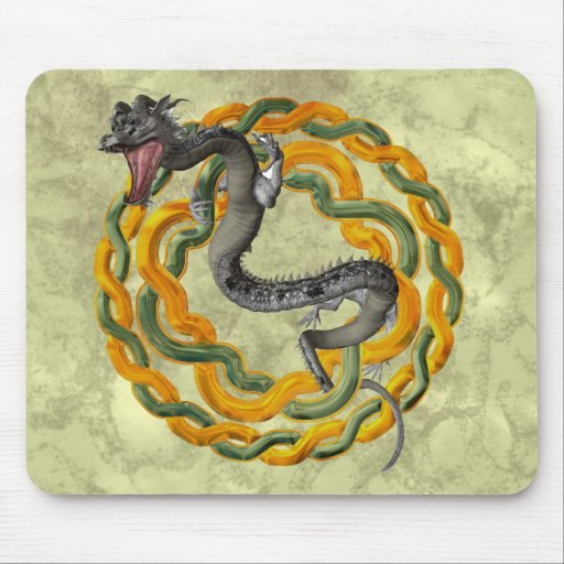 Dragón chino alfombrillas de raton