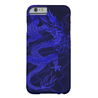 Dragón chino azul funda barely there iPhone 6
