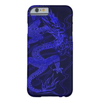 Dragón chino azul funda para iPhone 6 barely there