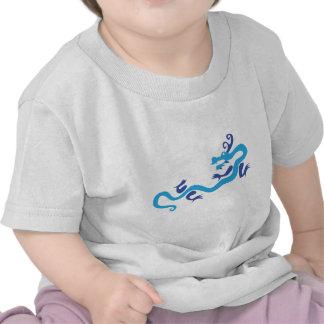 Dragón chino azul camiseta