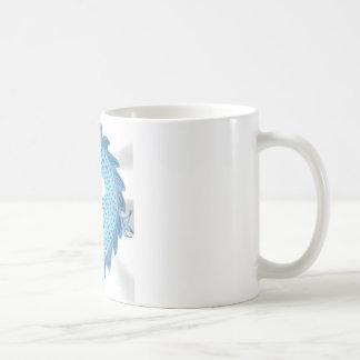 Dragón chino azul taza de café