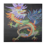 Dragón chino azulejo