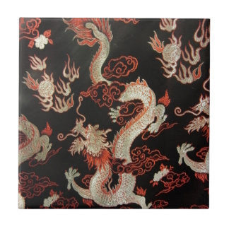 Dragón chino azulejo cuadrado pequeño