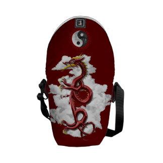 Dragón chino bolsas messenger