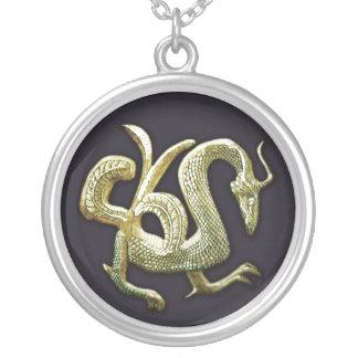 Dragón chino de bronce antiguo pendiente personalizado