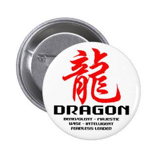 Dragón chino de la astrología pins
