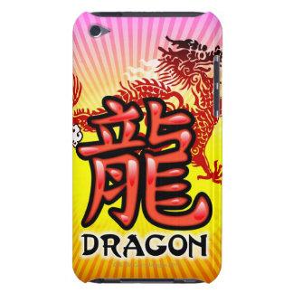Dragón chino de la buena suerte con el texto Case-Mate iPod touch coberturas