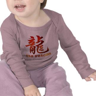 Dragón chino de la muestra del zodiaco camiseta