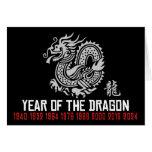 Dragón chino del Año Nuevo Tarjetas