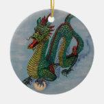 Dragón chino del destino ornatos