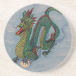 Dragón chino del destino posavasos para bebidas