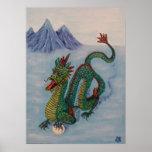 Dragón chino del destino poster