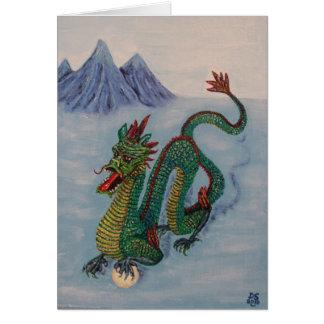 Dragón chino del destino tarjeta de felicitación