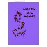 """Dragón chino """"HappyNewYear!"""" Tarjetas"""