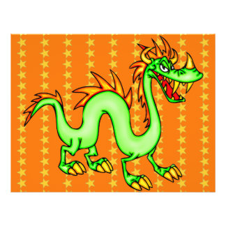 "Dragón chino hermoso folleto 8.5"" x 11"""
