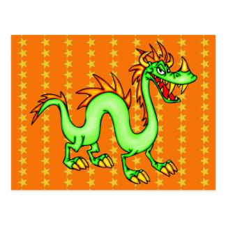 Dragón chino hermoso postal