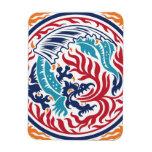 Dragón chino imán de vinilo