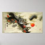 Dragón chino impresiones