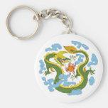 Dragón chino (largo) llavero