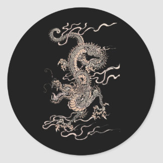 Dragón chino etiqueta