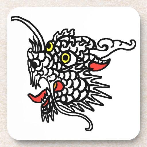 Dragón chino posavasos de bebidas