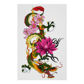 Dragón chino póster