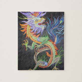 Dragón chino rompecabeza con fotos