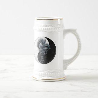 Dragón chino Stein de Yin Yang Jarra De Cerveza