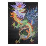 Dragón chino tarjeta
