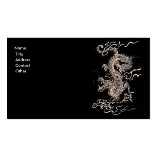 Dragón chino tarjeta de visita