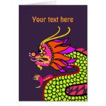 Dragón chino tarjeta de felicitación