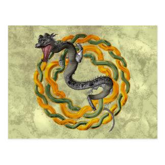 Dragón chino postales