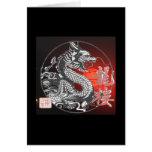 Dragón chino tarjetón