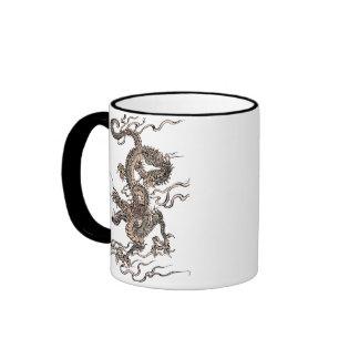 Dragón chino tazas