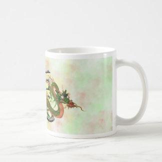 Dragón chino tazas de café