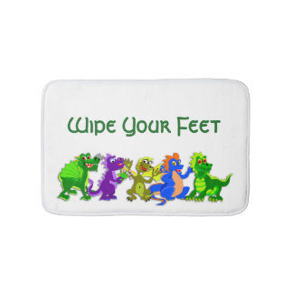 Dragon Chorus Line Bathroom Mat