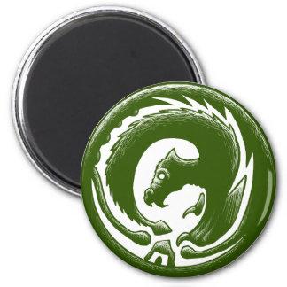 Dragon Circle Green Fridge Magnets